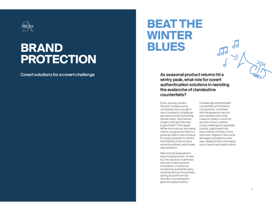 Brand Protection: Covert Solutions for a Covert Challenge (Courtesy of SICPA)