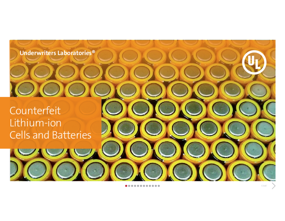 Counterfeit Lithium-ion Cells and Batteries