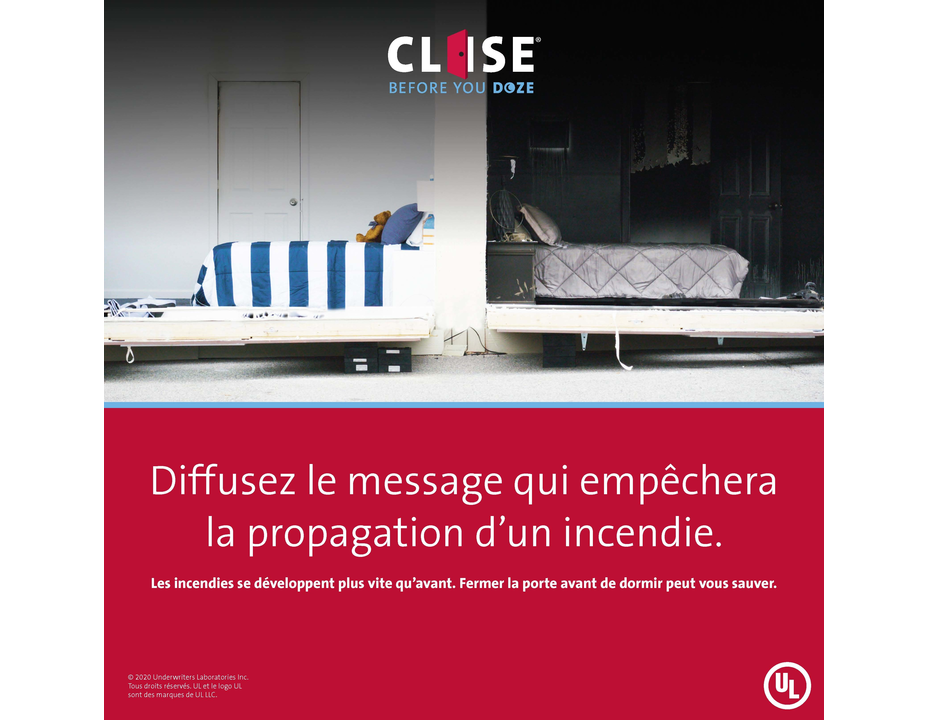 Close Before You Doze - Instagram Graphics (French)