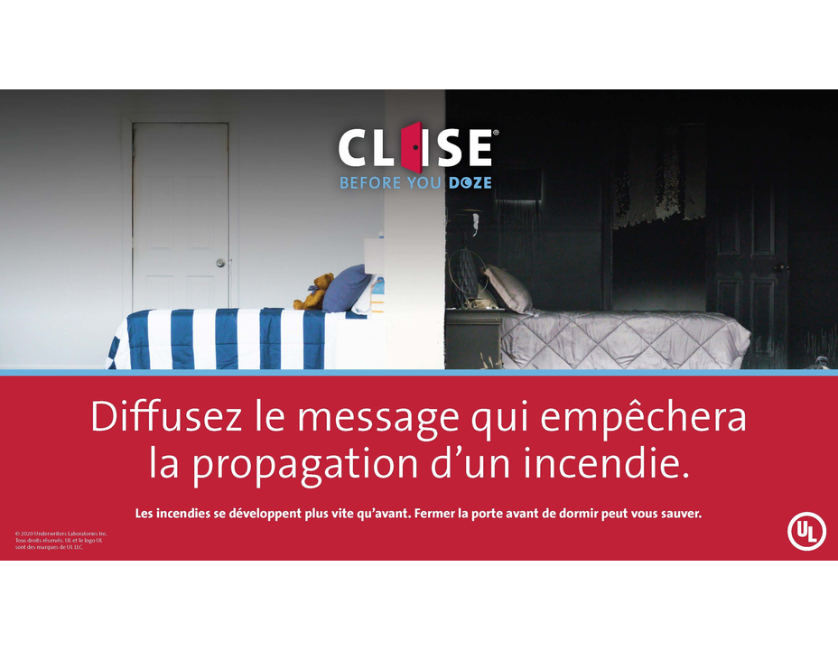 Close Before You Doze Social Media Graphics - Twitter (French)